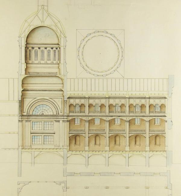 victor bourgeau; chapelle; hospitalières; hôtel-dieu